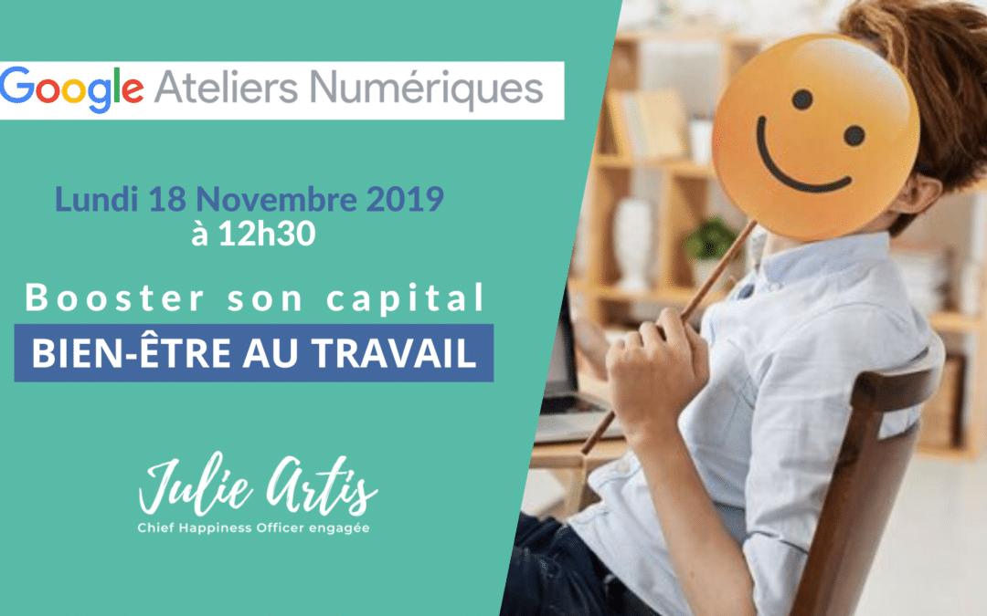 Conférence | Booster son capital bien-être au travail – 18 Novembre 2019