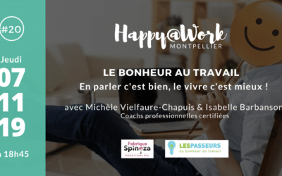 Meetup Happy@Work #20 – 7 Novembre 2019 à Montpellier