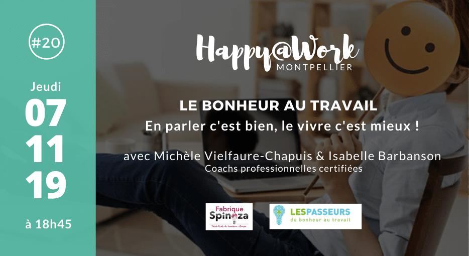 Meetup Happy@Work #20 – 7 Novembre 2019 à Montpellier